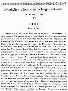 Edit du Roy de 1700